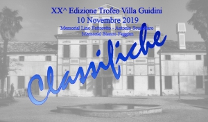 XX° Edizione Villa Guidini: Classifiche