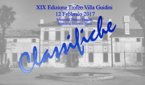 XIX° Edizione Villa Guidini: Classifiche